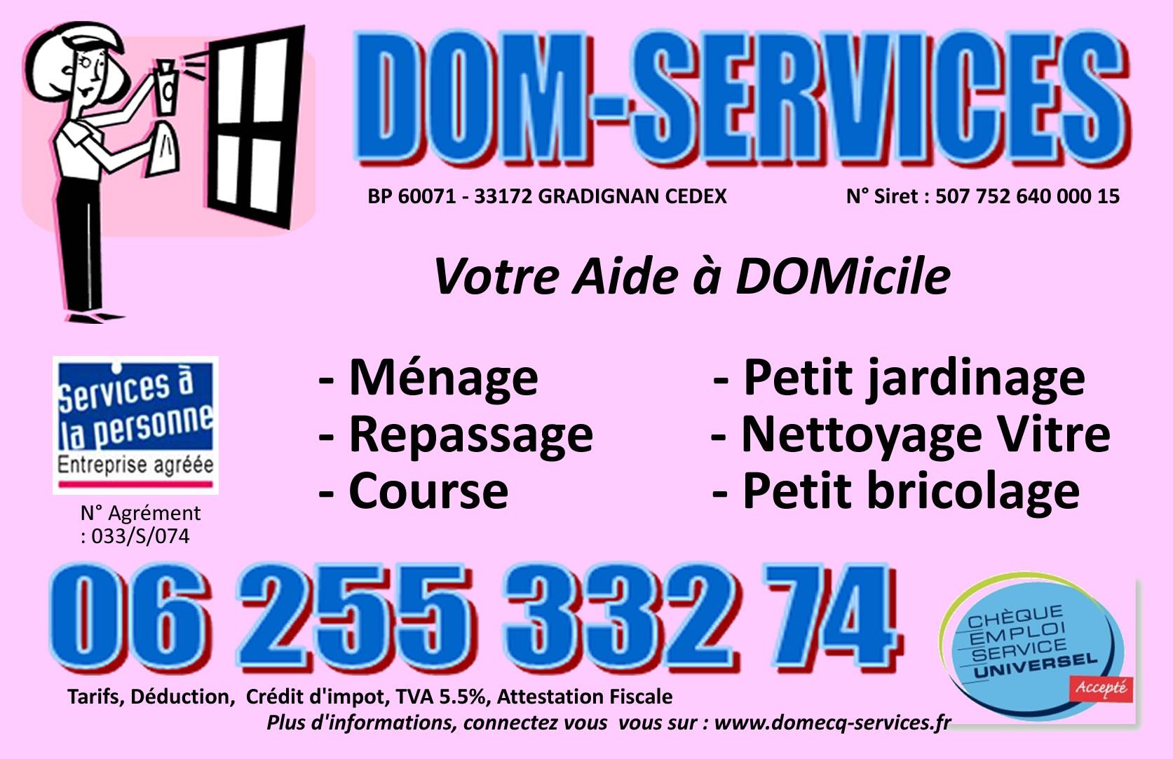 DOM-SERVICES - Particulier/ Pro